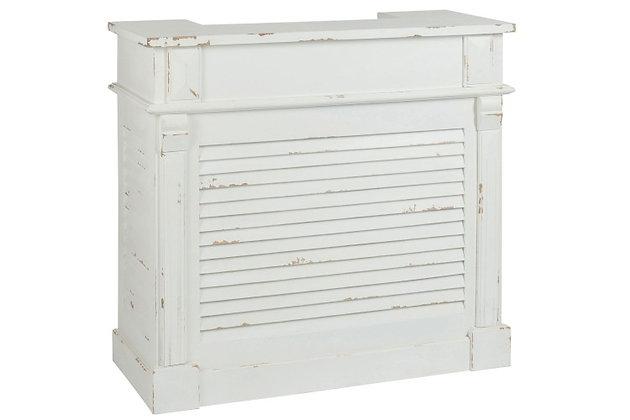 Mobile bar rettangolare 2 cassetti legno bianco (71029)