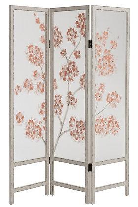 Separe' 3 parti Tree Blossoms Legno / Plastica Bianco / Rosa