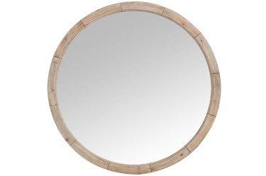 Specchio rotondo in legno naturale (72569)