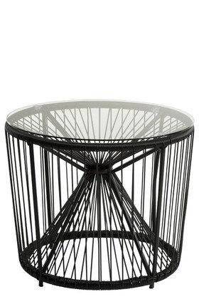 Tavolo Pam Metallo/Plastica + Vetro Nero/Bianco