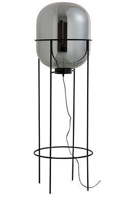 Lampada a piedi Sasha Glass / Metal Silver / Black Large (89037)
