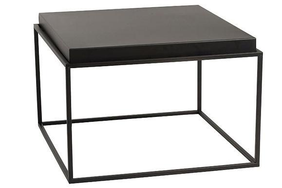 Tavolino quadrato metallo nero grande