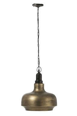 Lampada Hang Wide Round Metal Antique Gold (92260)