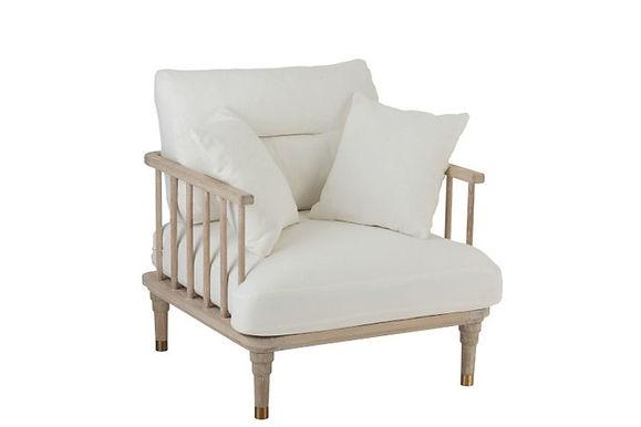 Sedia 1 Persona Rovere / Tessuto Bianco (96003)
