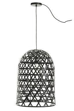 Lampada a sospensione Cylinder Bamboo Black (82161)