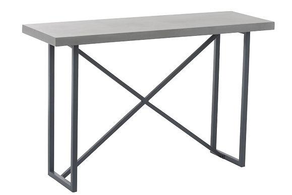 Consolle Finitura cemento Rettangolare Legno / Grigio metallo (85232)