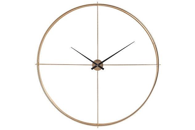Orologio rotondo in metallo dorato (75947)