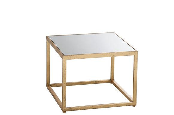 2 tavolini Square Metal / Glass Gold (77175)