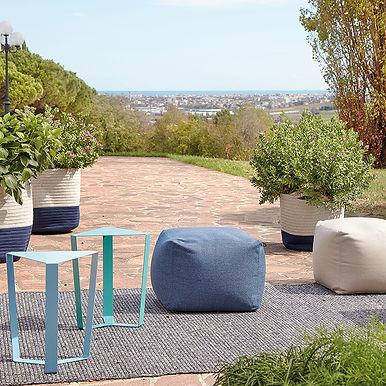 FINITY BIG outdoor tavolino in metallo cm 40 x 34 x 47h