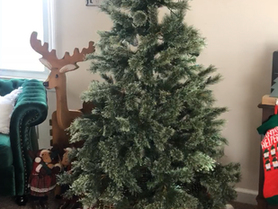 How to Flock a Faux Christmas Tree