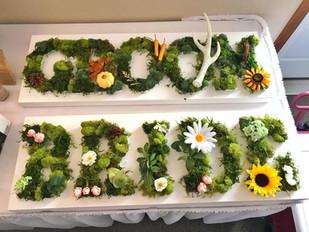 Wedding DIY : Moss Lettering Decor