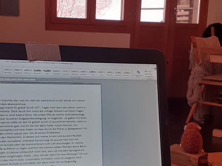...Schreib mit dem Schnee um die Wette
