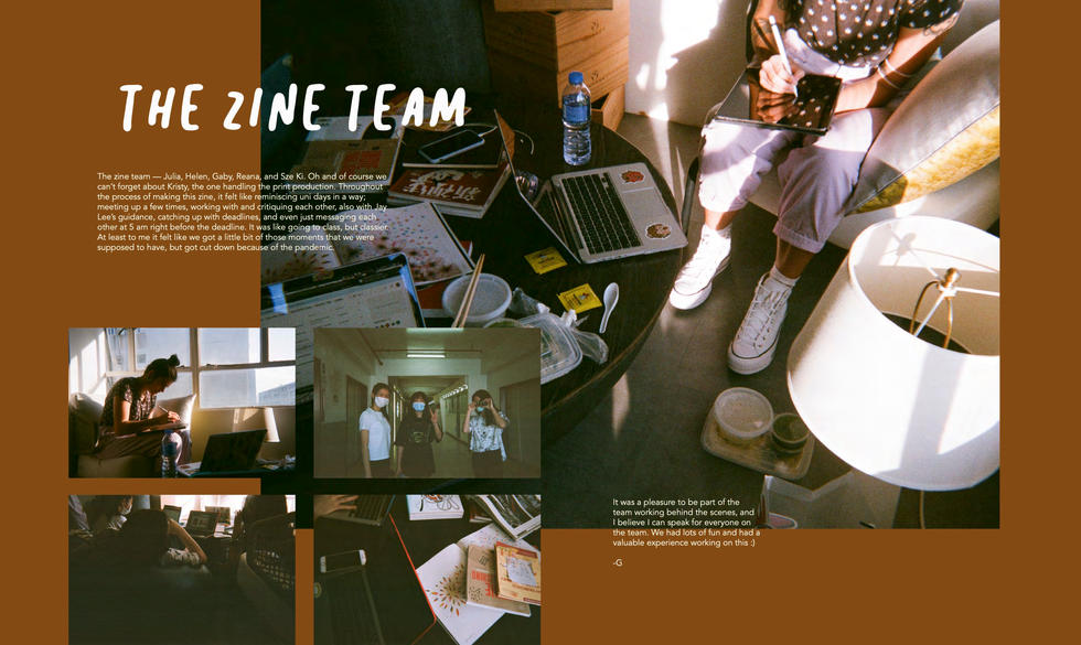 'The Zine Team' who put together this zine