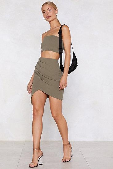Bandeau Top And Mini Skirt Set