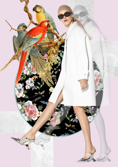 Collage artwork for L'Officiel Lithuania editorial