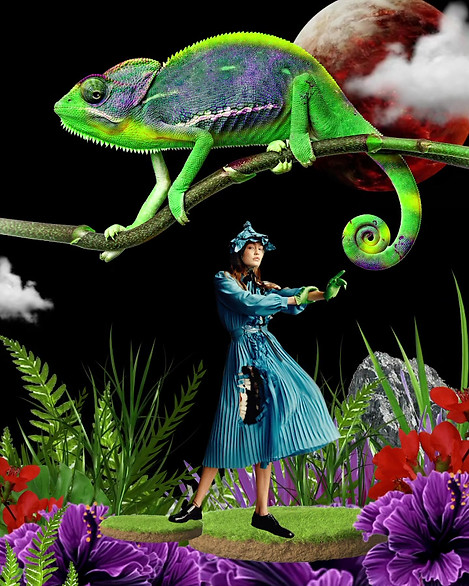GiGi Hadid and Chameleon