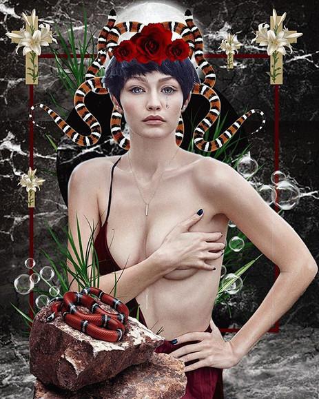 Gigi Hadid collage artwork