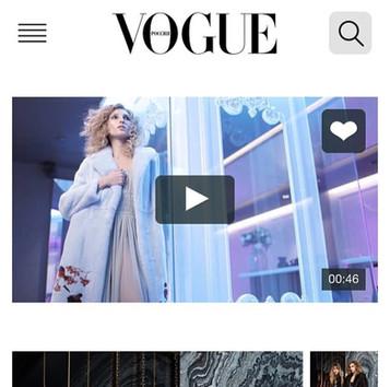 backstage vido for Vogue