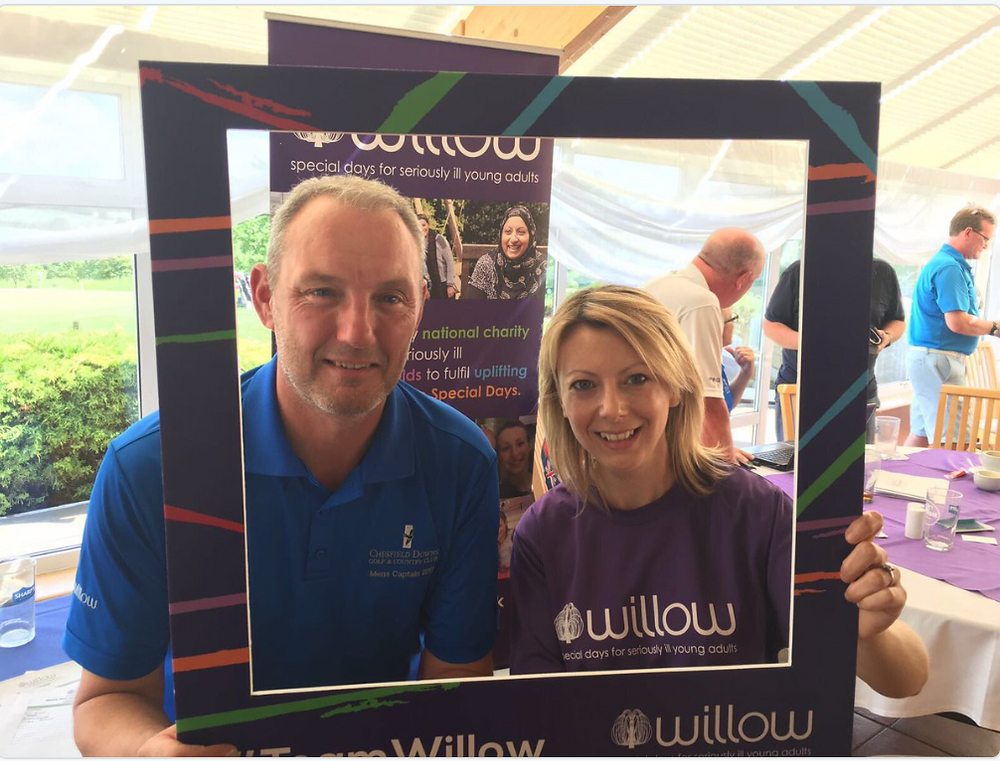 CACE Managing Director, Craig Crowhurst and Hannah Gray from The Willow Foundation.