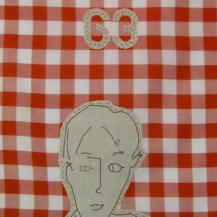 thee - 2010 (linen on cotton gingham)