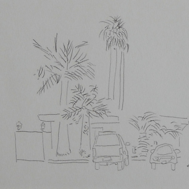 the homestead - c2007 (pencil on paper)