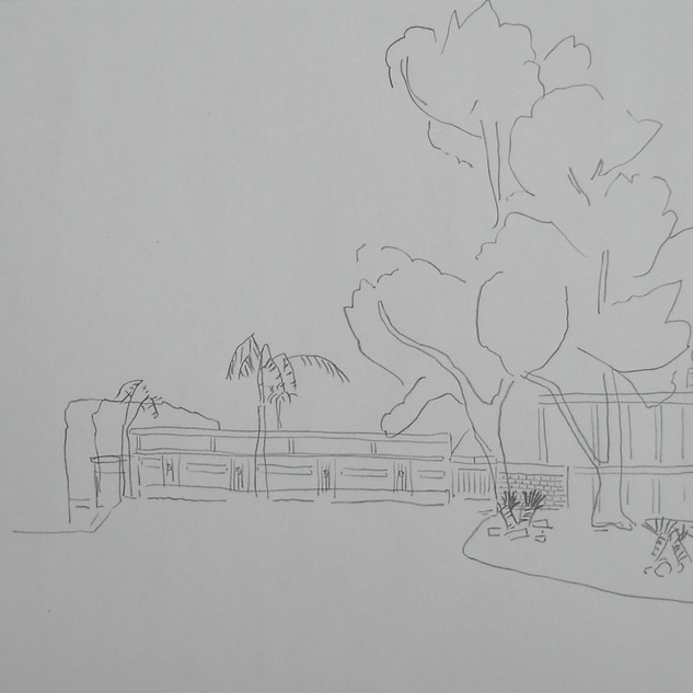 my place in the sun - 2007 (pencil on paper)