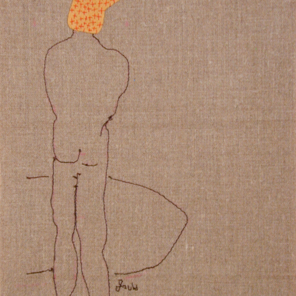 lake front - 2005 (linen and wool)