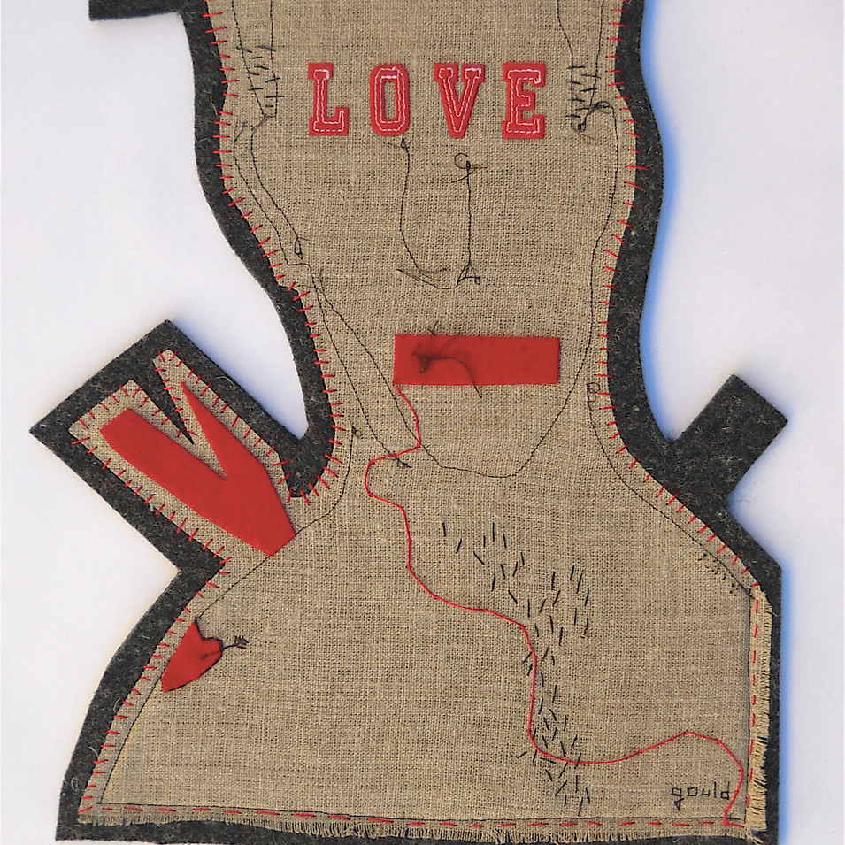 on thin ice - 2010 (industrial wool felt, linen and felted wool)
