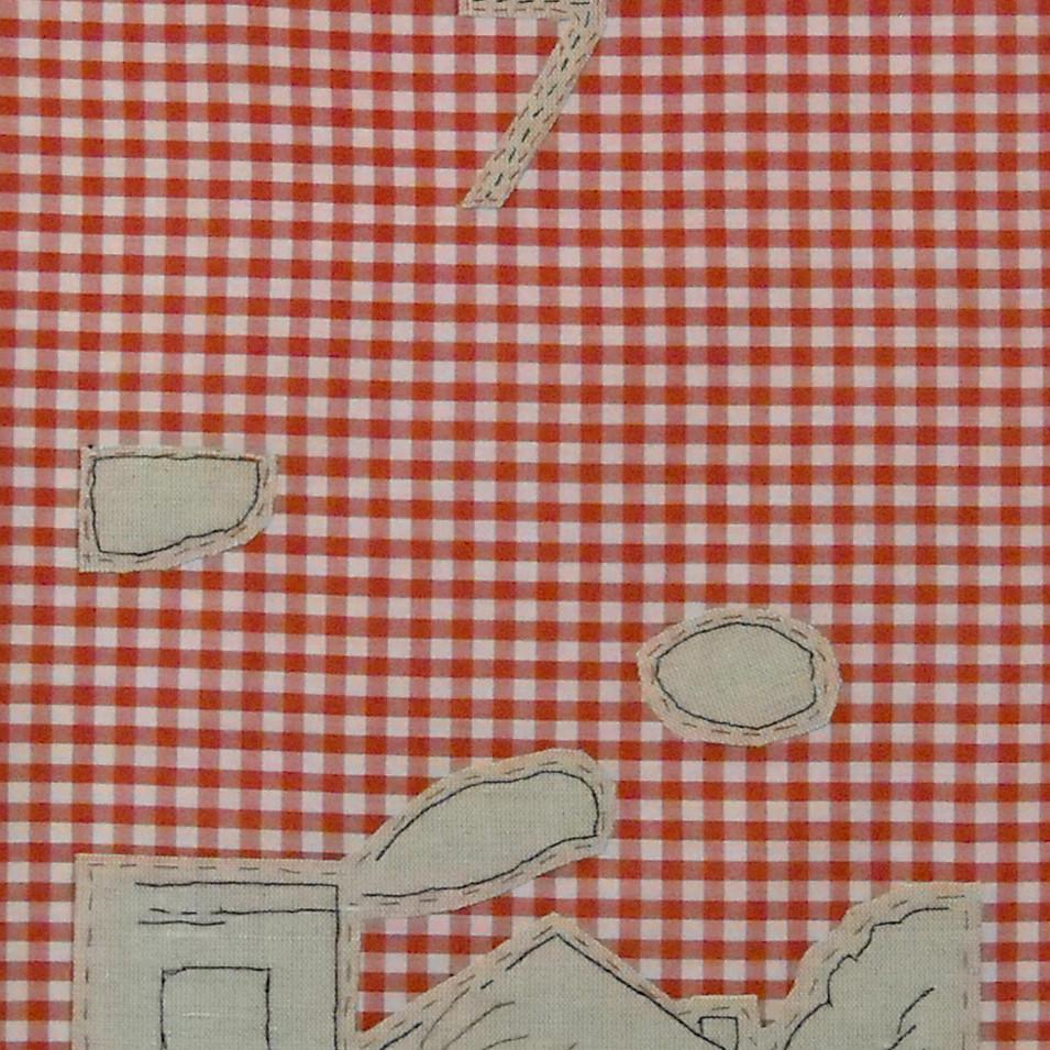 land - 2010 (linen on cotton gingham)