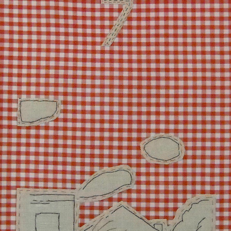 land - 2010 (linen on cotton gingham)