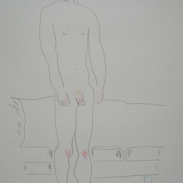 upright citizen - 2008 (pencil and pencil crayon on paper)