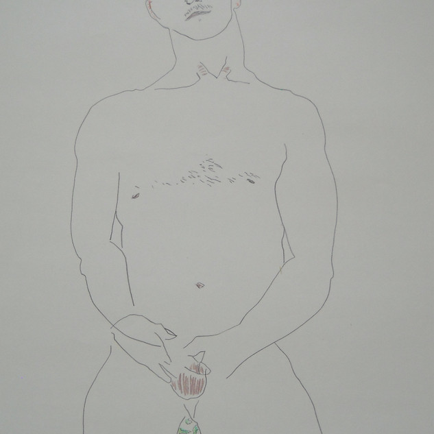 mike - c2008 (pencil and pencil crayon on paper)