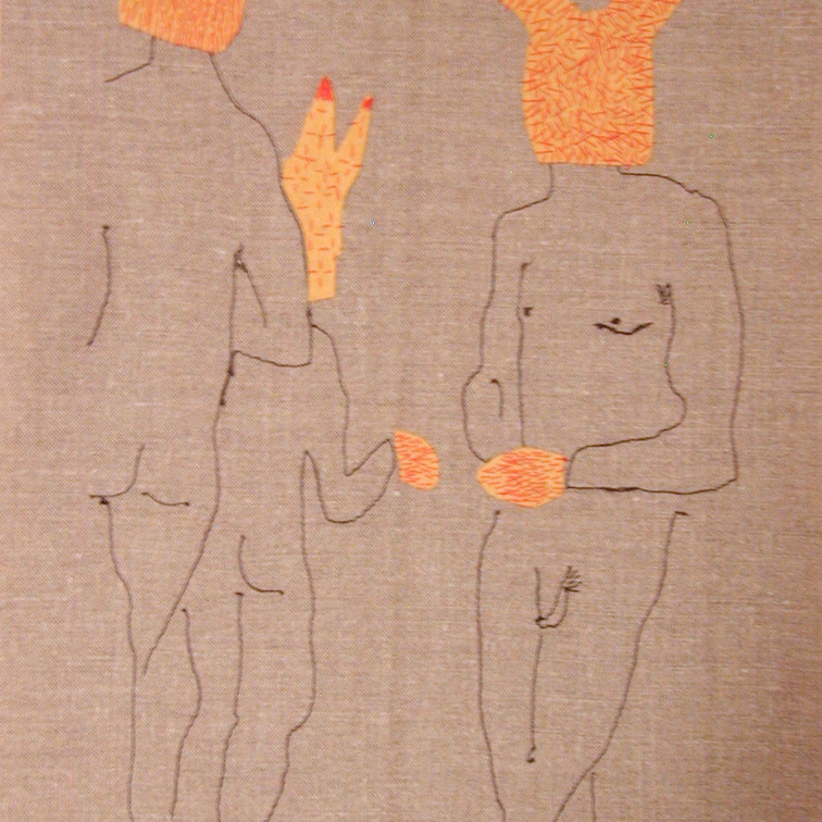 party animals - 2005 (linen and wool)