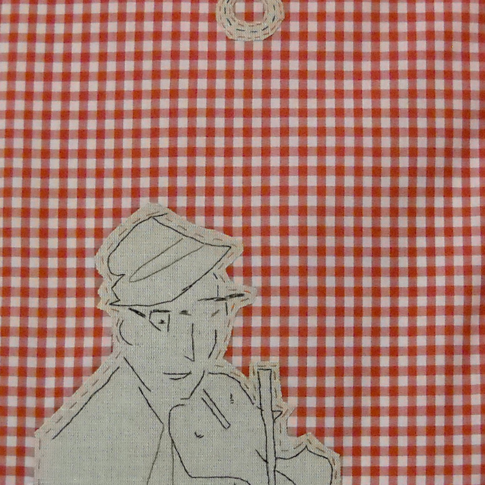 true - 2010 (linen on cotton gingham)