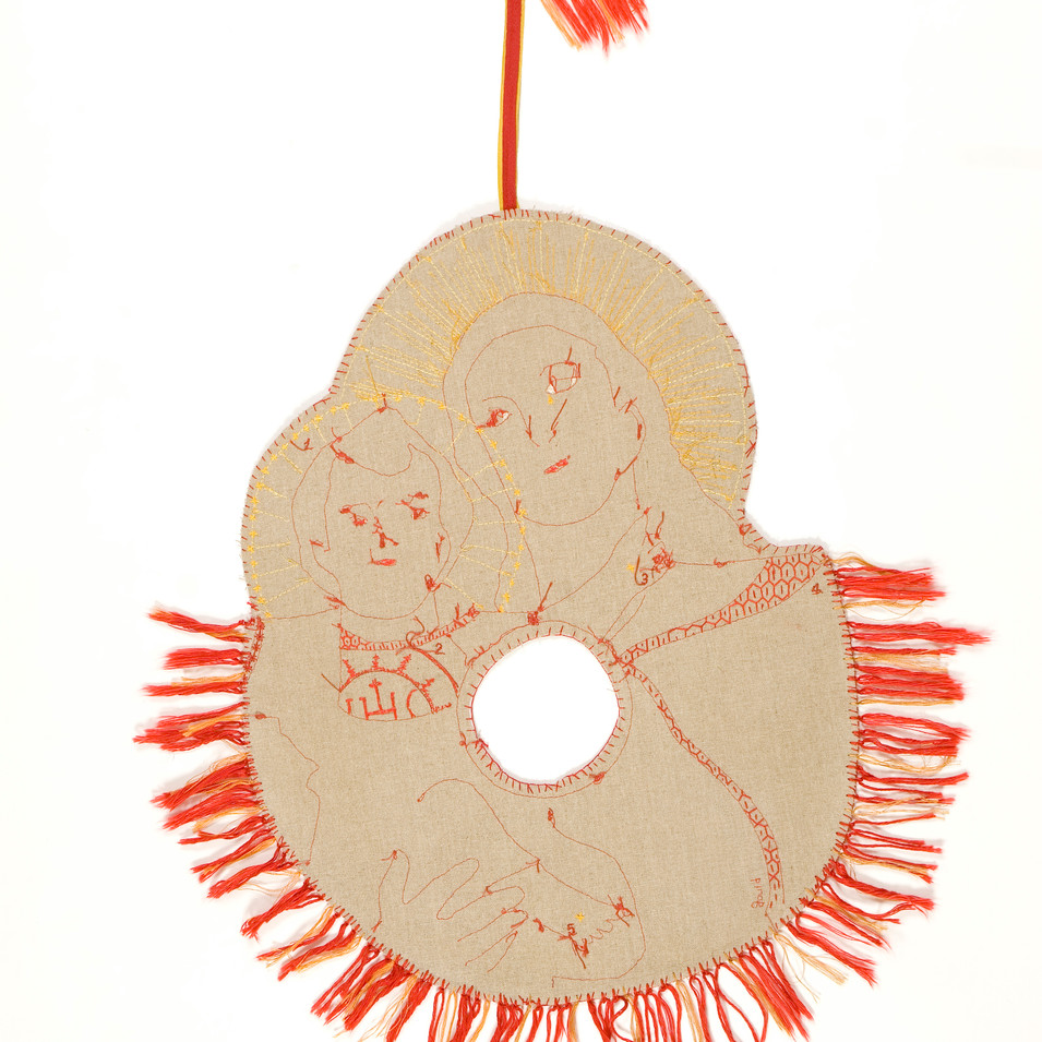 for unto us...-2004 (linen with cotton embroidery floss)
