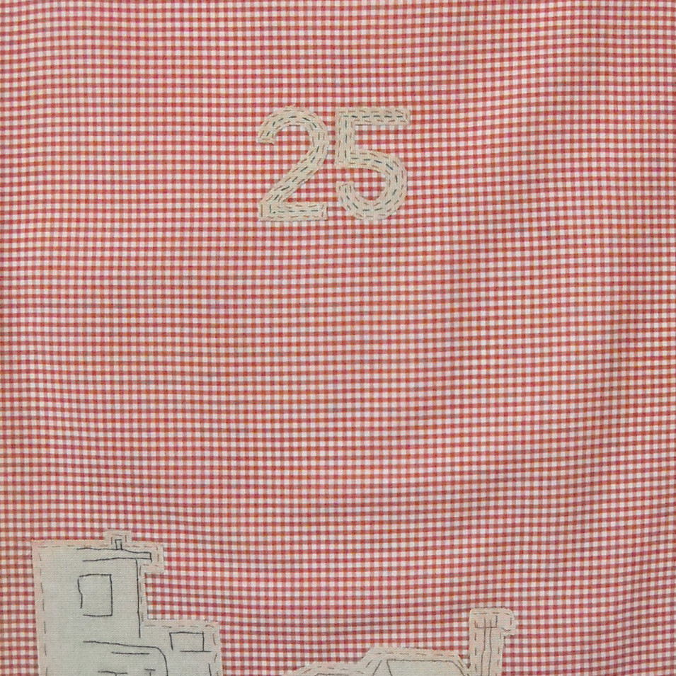 north - 2010 (linen on cotton gingham)