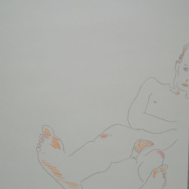 big foot - 2008 (pencil and pencil crayon on paper)