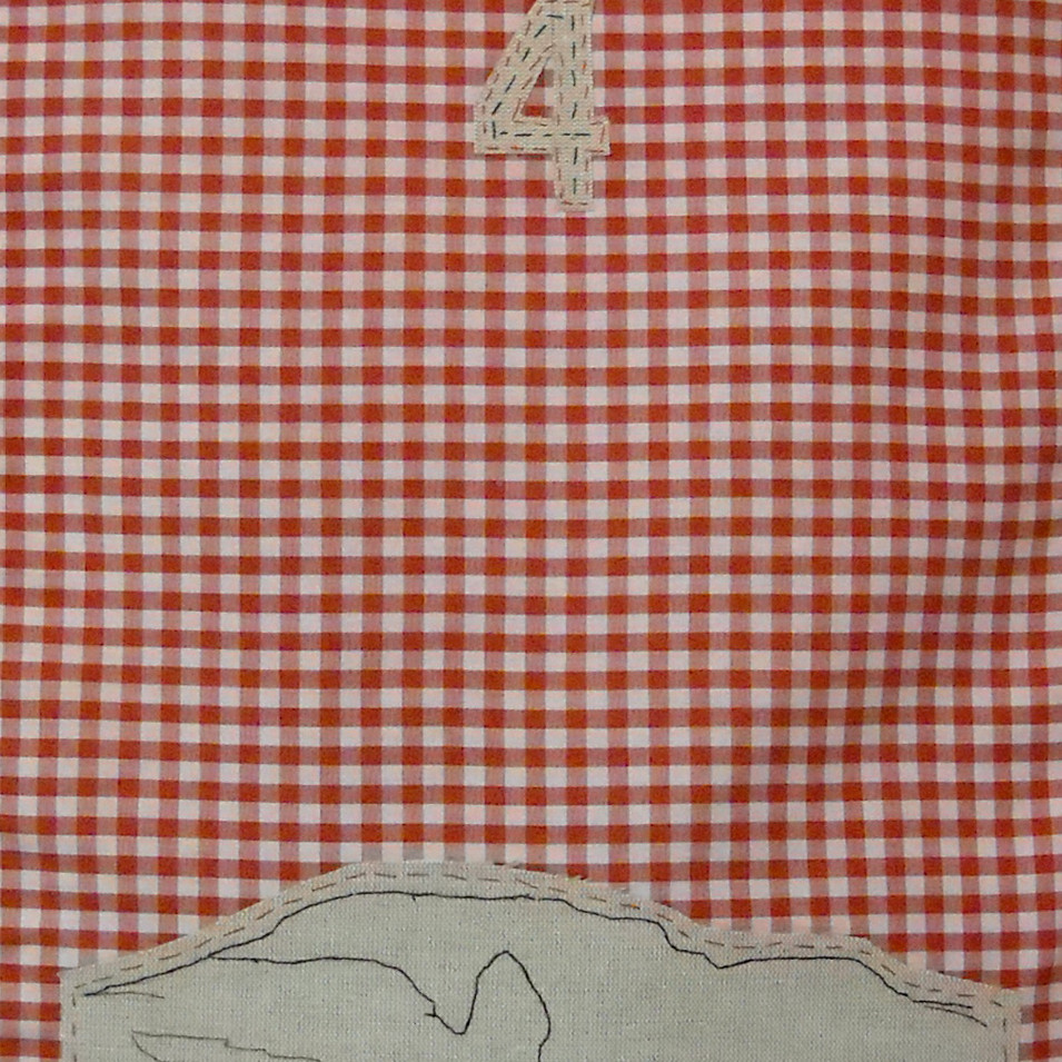 home - 2010 (linen on cotton gingham)