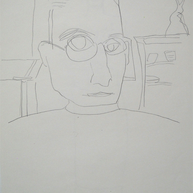 reflected - c1089 (pencil on paper)