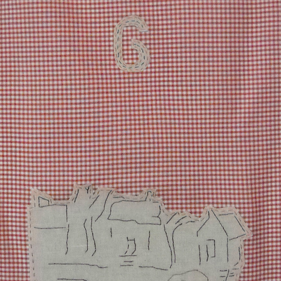 native - 2010 (linen on cotton gingham)