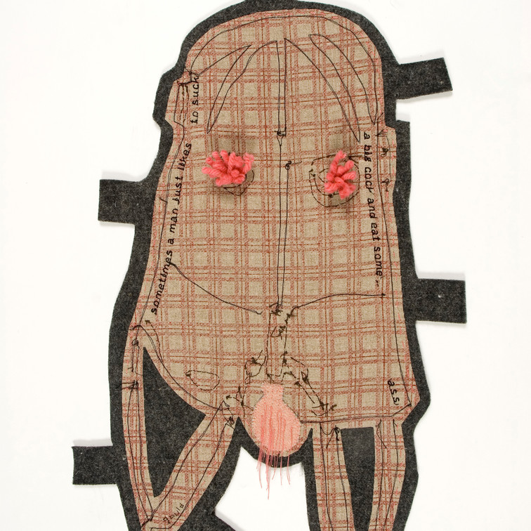 here's the thing - 2010 (industrial wool felt, vintage wool blanket, wool and cotton)