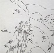 desert spring - 2007 (pencil on paper)