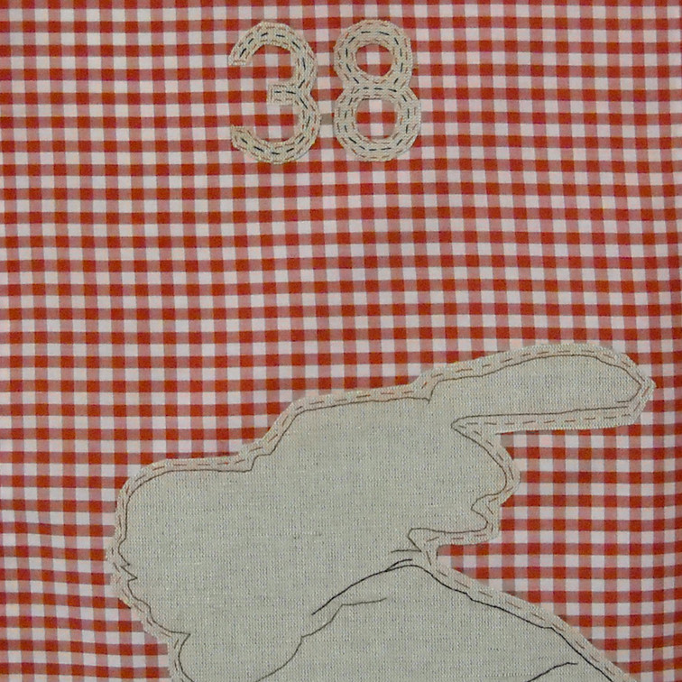 guard - 2010 (linen on cotton gingham)