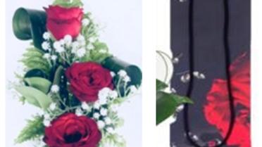 Valentine Passionate Love Bouquet (3roses)