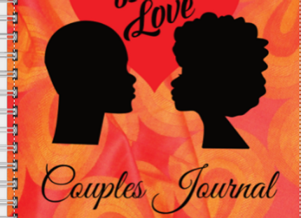Couples Journal Black Love Orange & Red ($15 /$17)