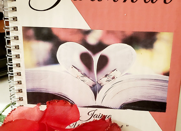 Couples Red and White  Journal and Planner ($15 /$17)