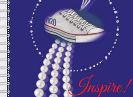 Chucks and Pearls red/wh/blu Inspire! Journal or Planner ($15 /$17)