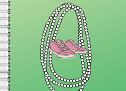 Chucks and Pearls Pink & Green Inspire! Journal or Planner ($15 /$17)