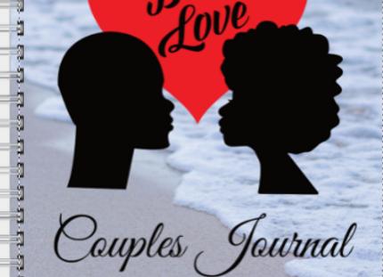 Couples Journal Black Love Sand & Sea