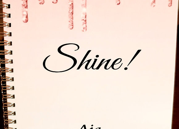 Shine Pink Drip Journal or Planner ($15 /$17)